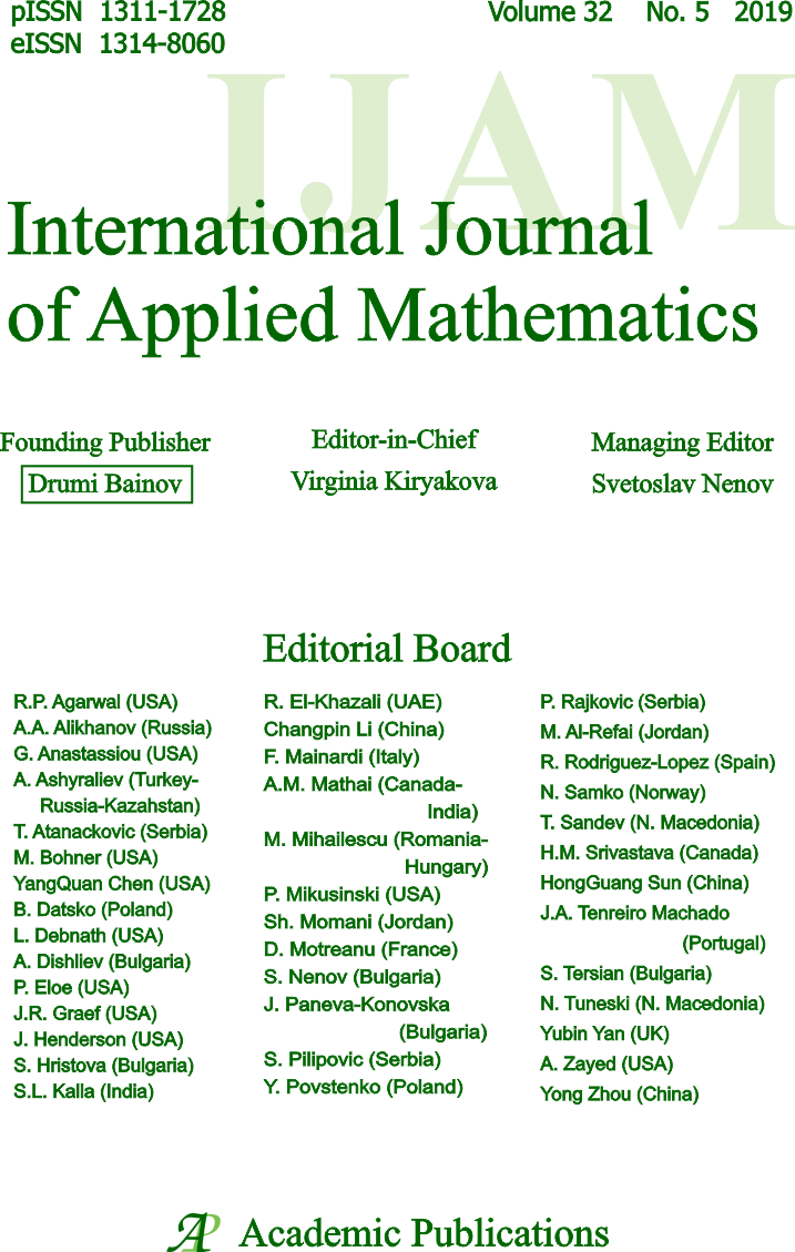 International mathematics research papers